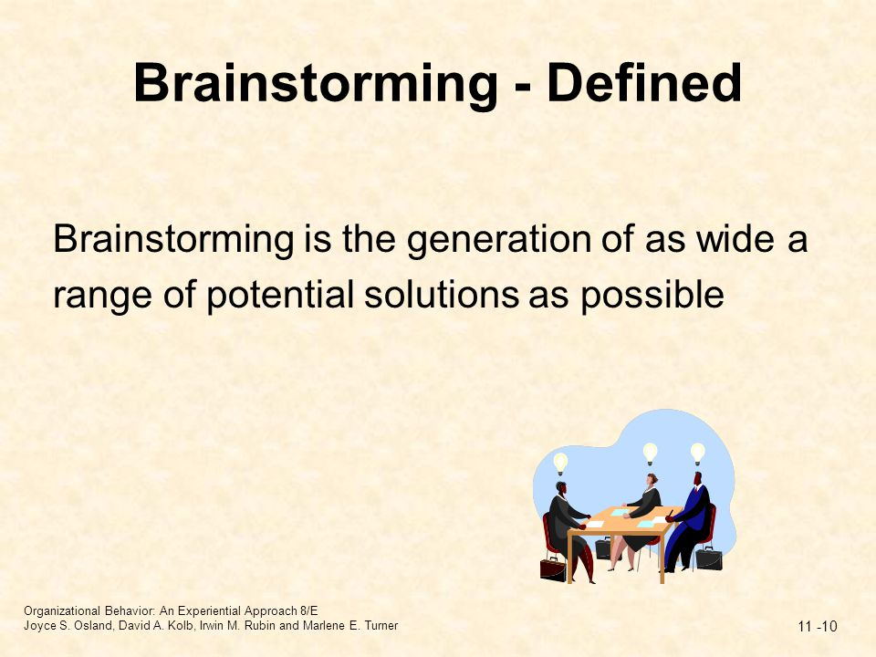 Brainstorming - Defined