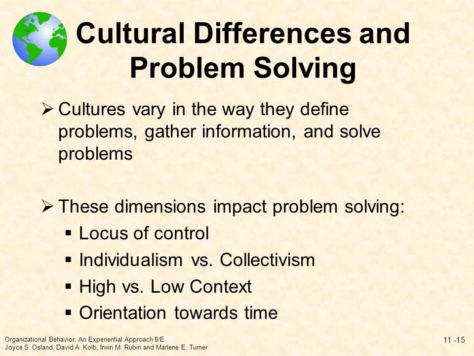 Cultural Differences and Problem Solving