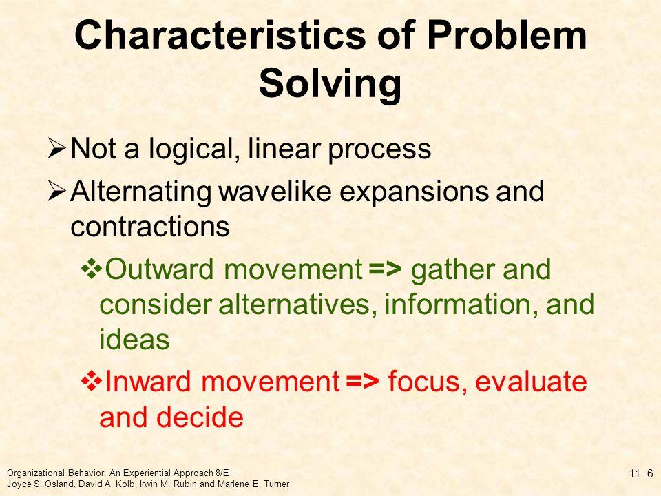 Characteristics of Problem Solving