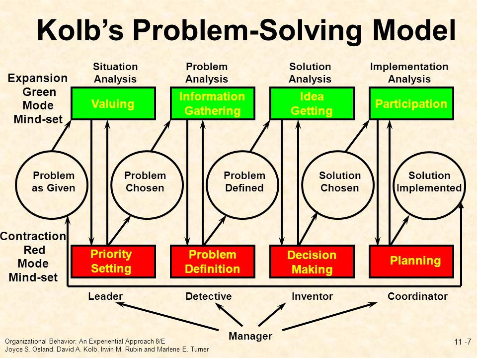 Kolb's Problem-Solving Model Implementation Analysis