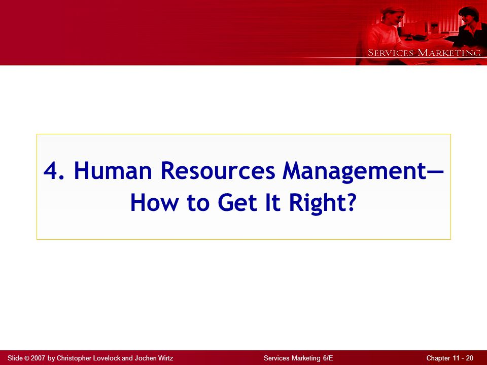 4. Human Resources Management— How to Get It Right