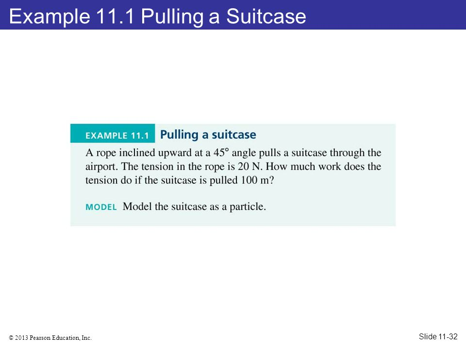 Example 11.1 Pulling a Suitcase