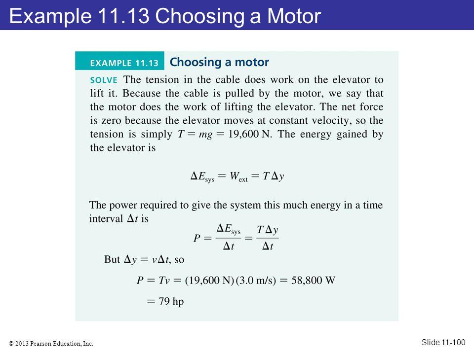 Example 11.13 Choosing a Motor