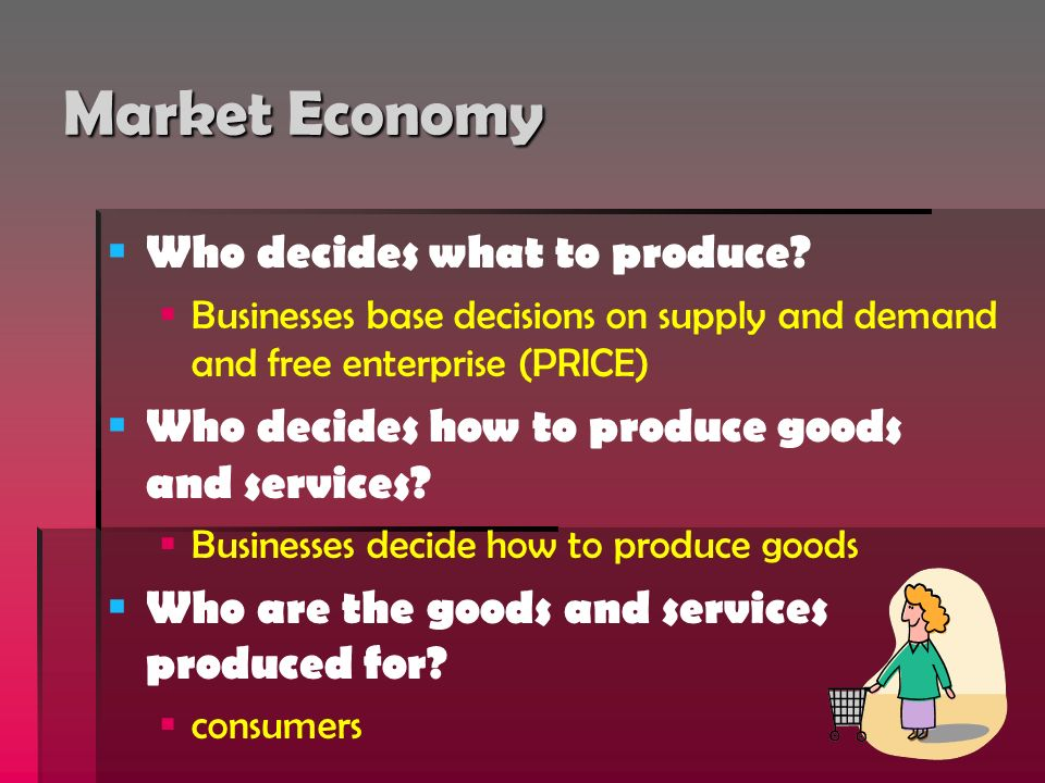 Market Economy Who decides what to produce