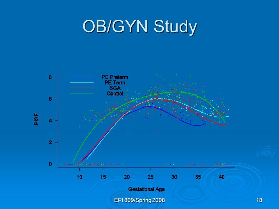 OB/GYN Study EPI 809/Spring 2008