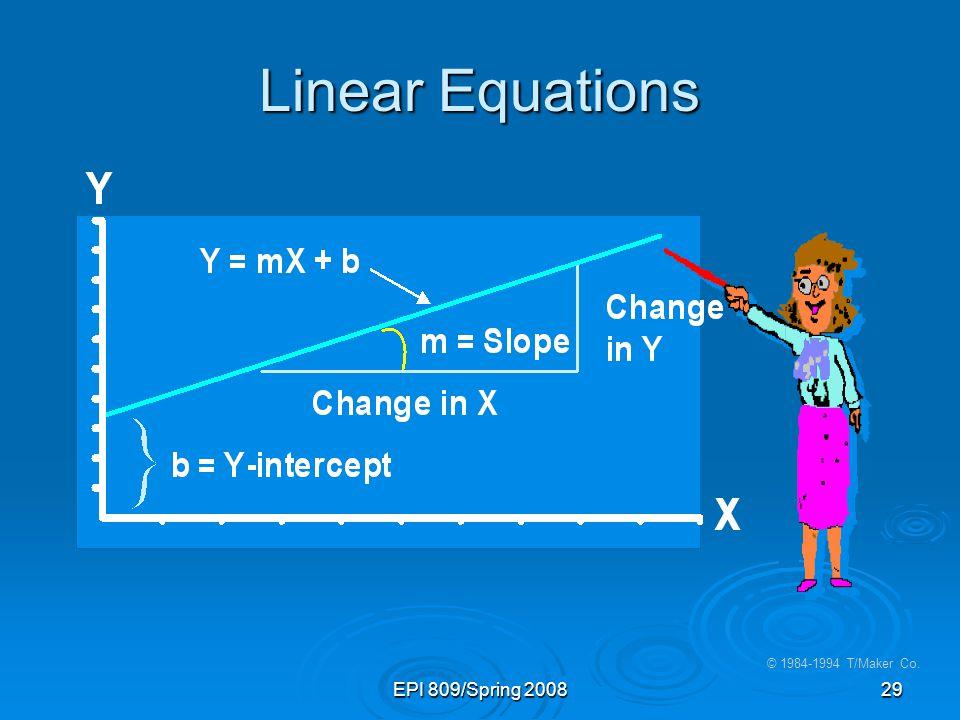 Linear Equations EPI 809/Spring 2008 © 1984-1994 T/Maker Co. 28