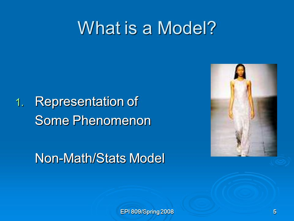 What is a Model Representation of Some Phenomenon