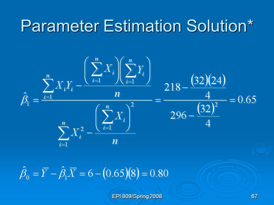 Parameter Estimation Solution*