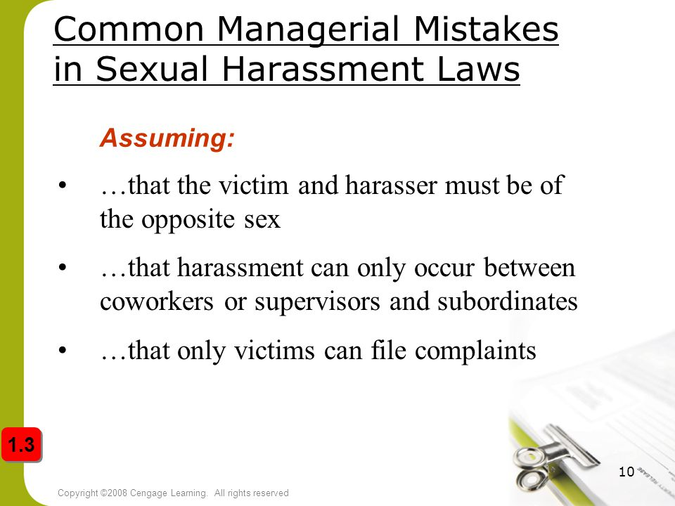 Common Managerial Mistakes in Sexual Harassment Laws