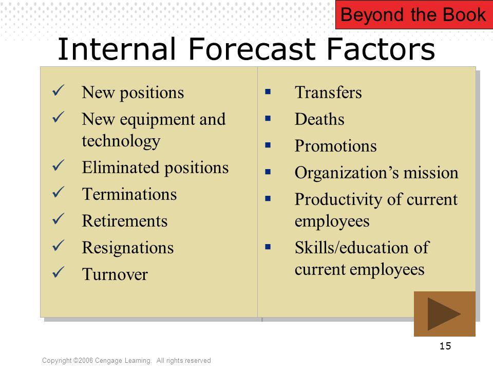 Internal Forecast Factors