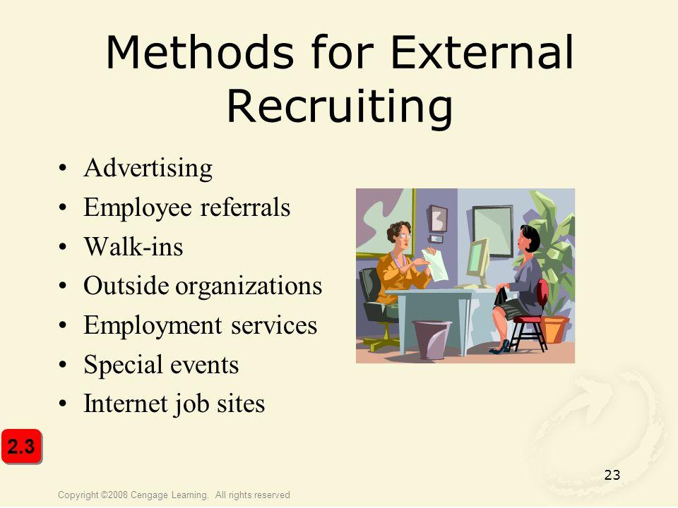 Methods for External Recruiting