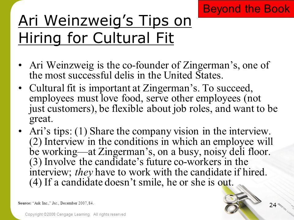 Ari Weinzweig's Tips on Hiring for Cultural Fit