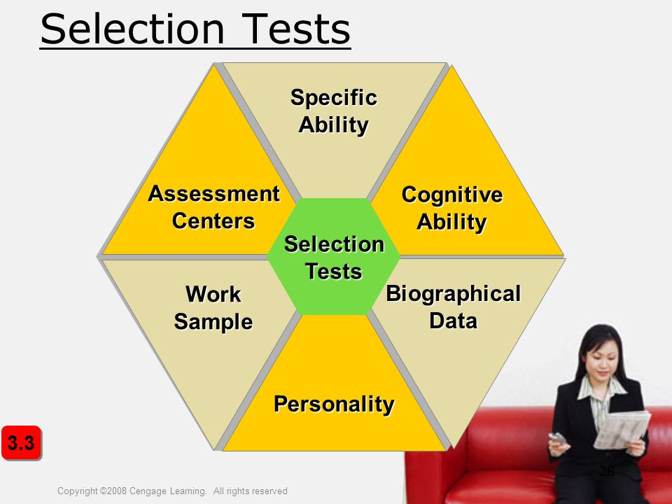 Selection Tests Specific Assessment Cognitive Centers Ability