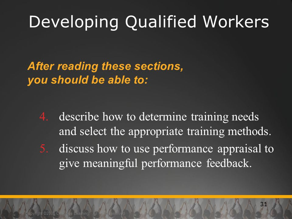 Developing Qualified Workers