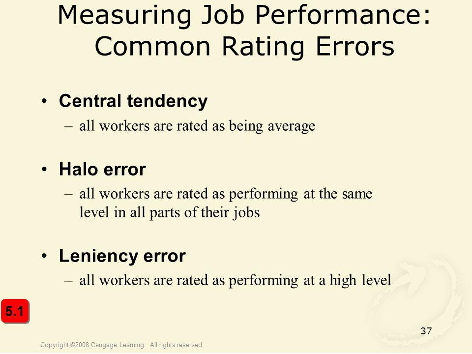 Measuring Job Performance: Common Rating Errors