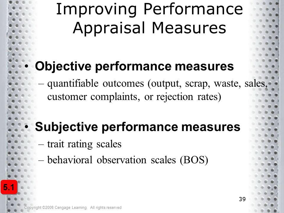 Improving Performance Appraisal Measures