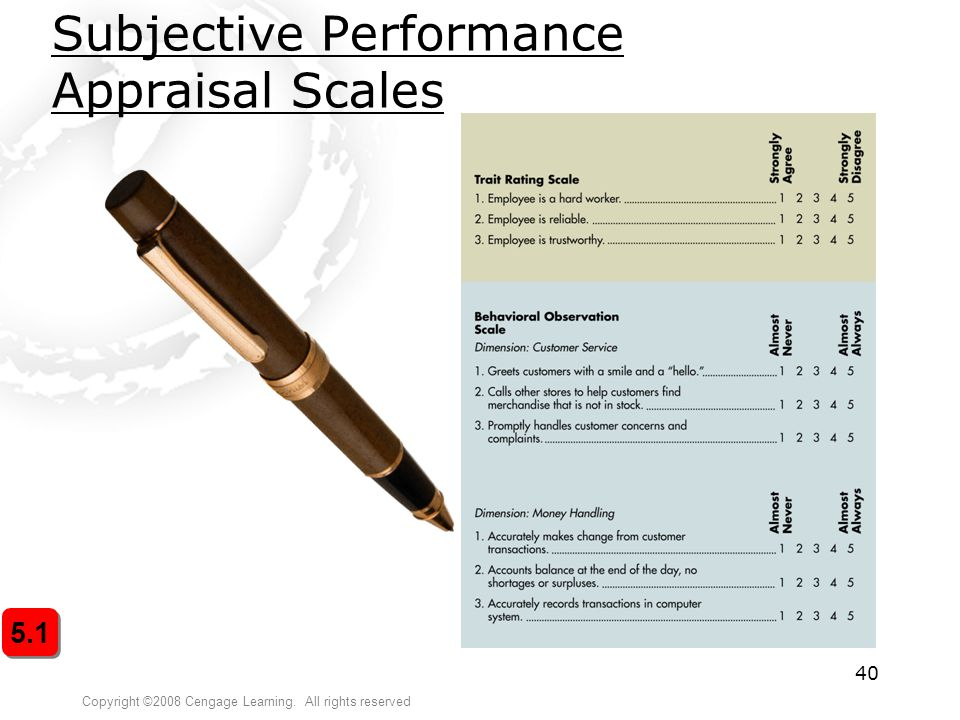 Subjective Performance Appraisal Scales