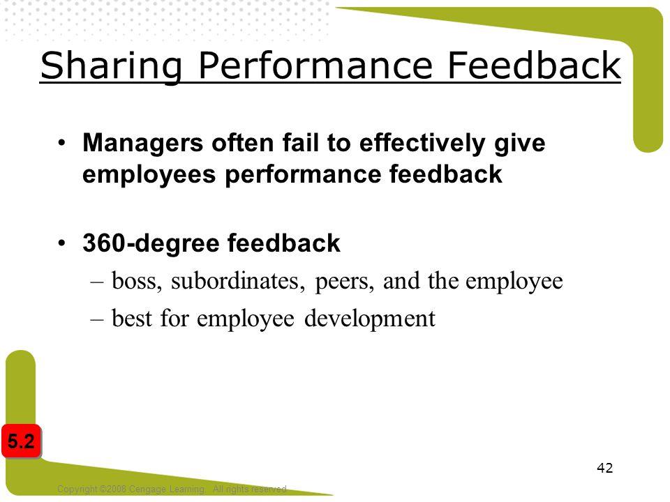 Sharing Performance Feedback