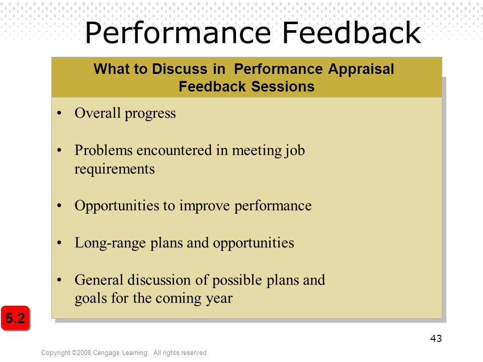 What to Discuss in Performance Appraisal Feedback Sessions
