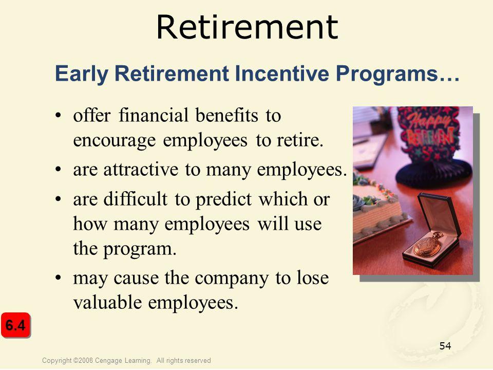 Retirement Early Retirement Incentive Programs…