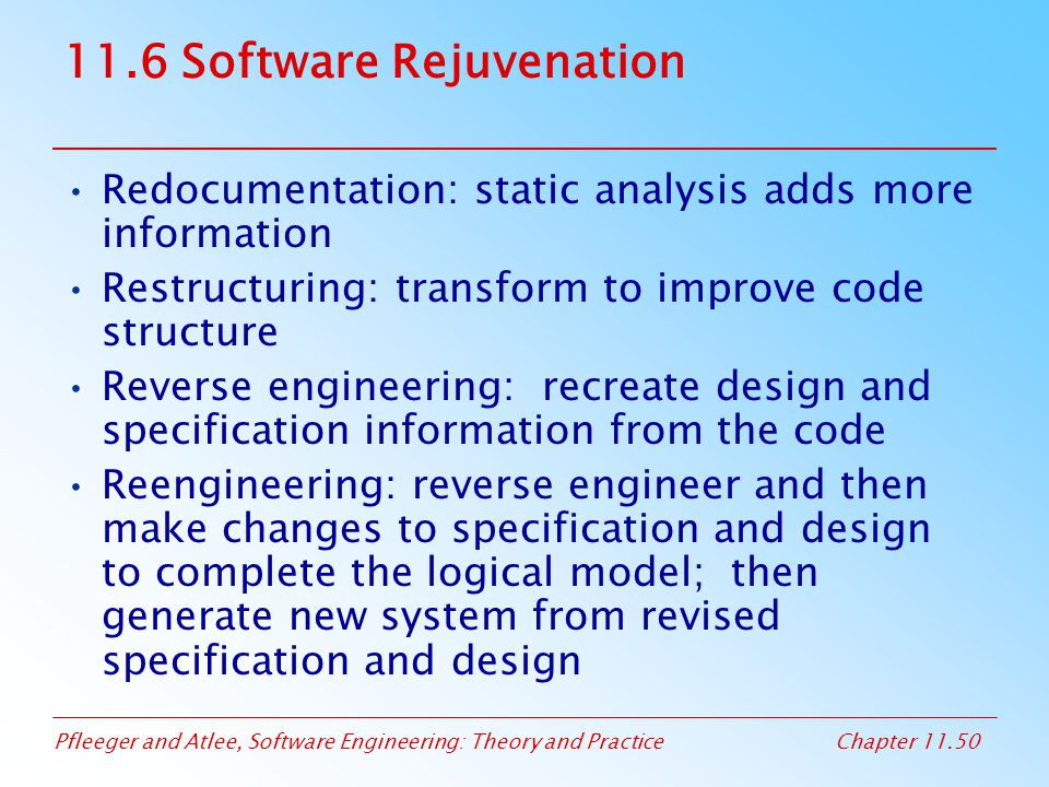 11.6 Software Rejuvenation