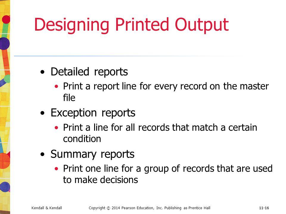 Designing Printed Output