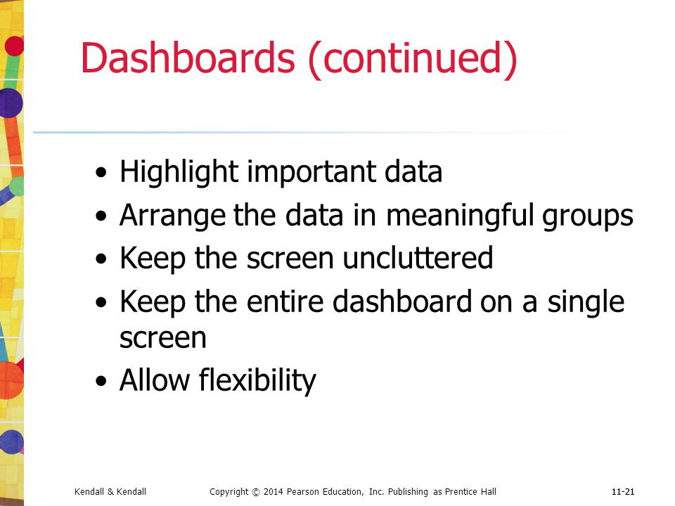 Dashboards (continued)