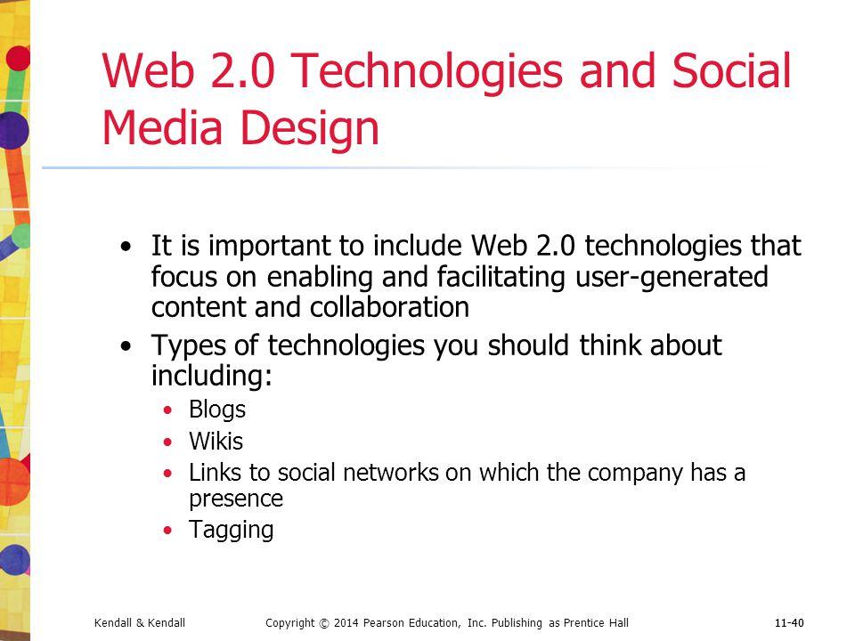 Web 2.0 Technologies and Social Media Design