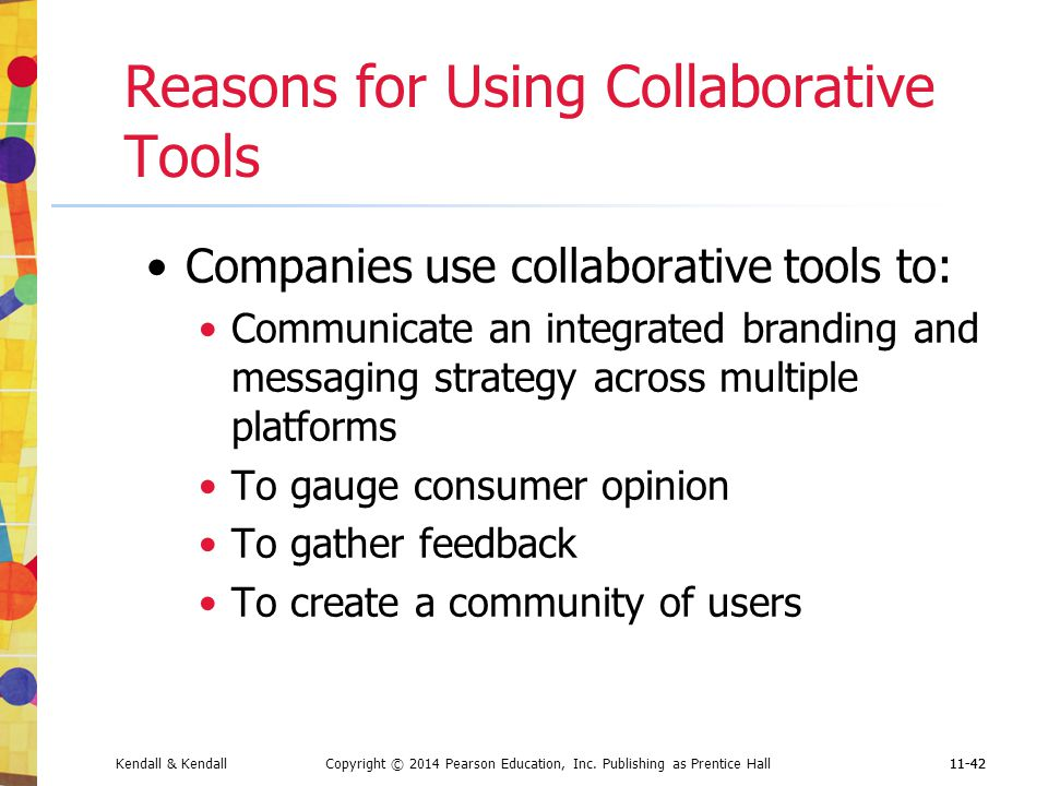 Reasons for Using Collaborative Tools