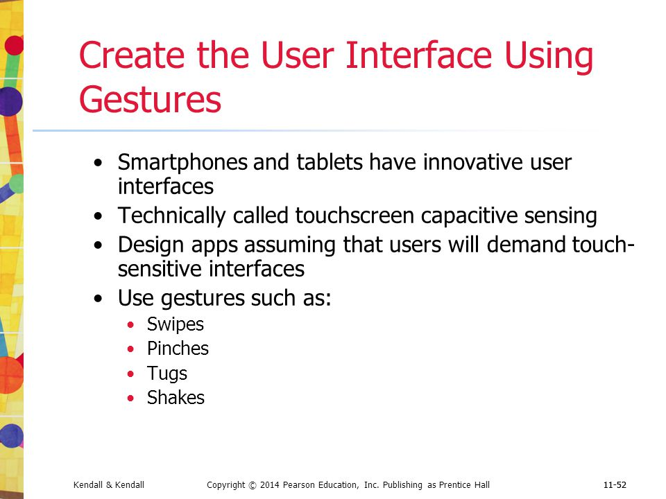 Create the User Interface Using Gestures