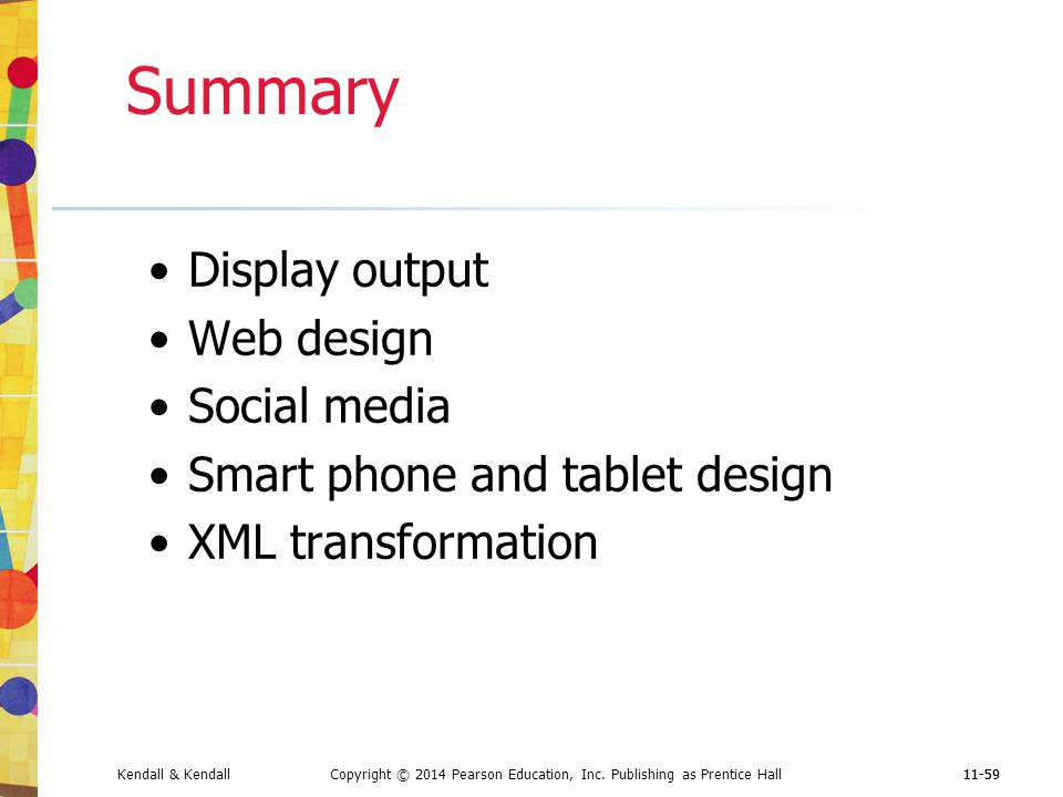 Summary Display output Web design Social media