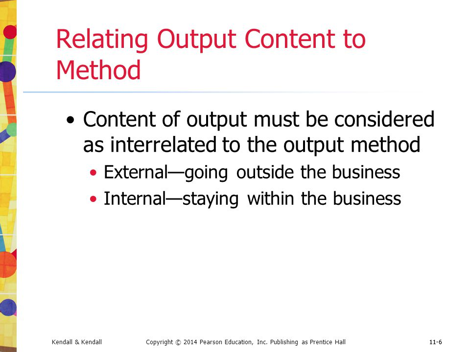 Relating Output Content to Method