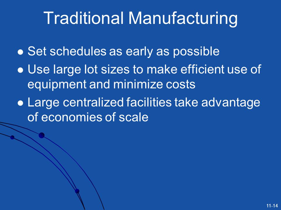 Traditional Manufacturing