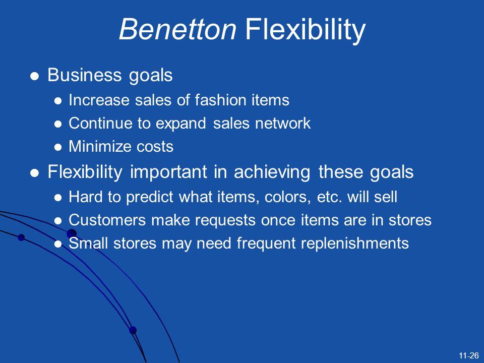 Benetton Flexibility Business goals