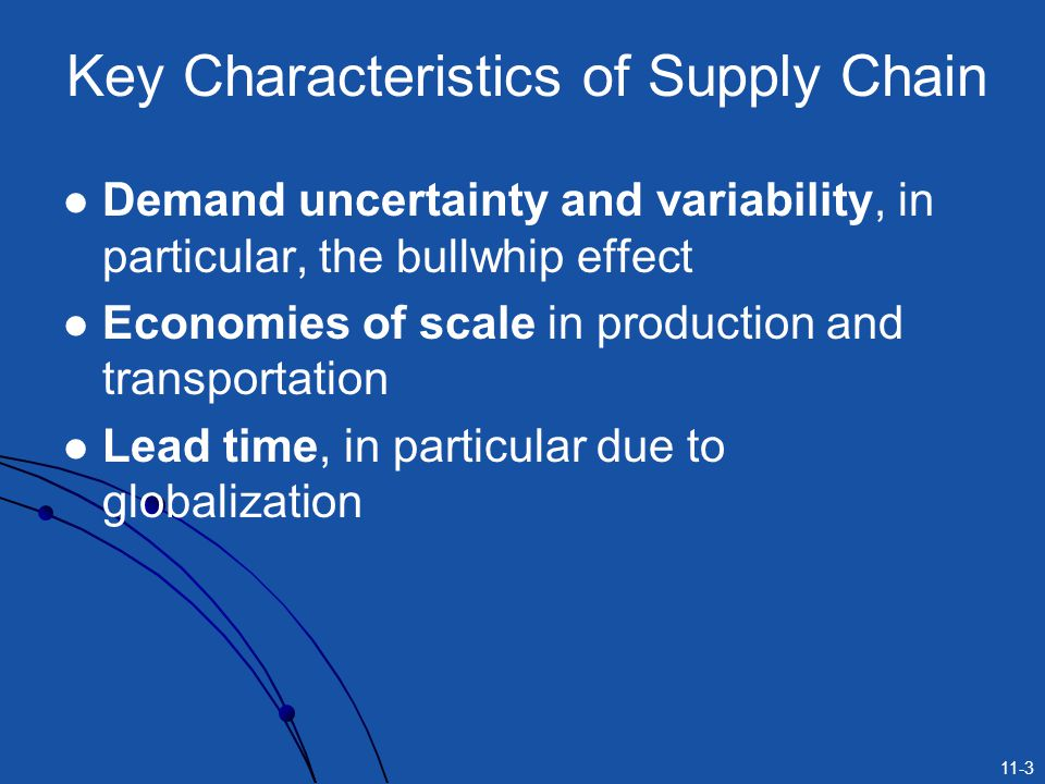 Key Characteristics of Supply Chain