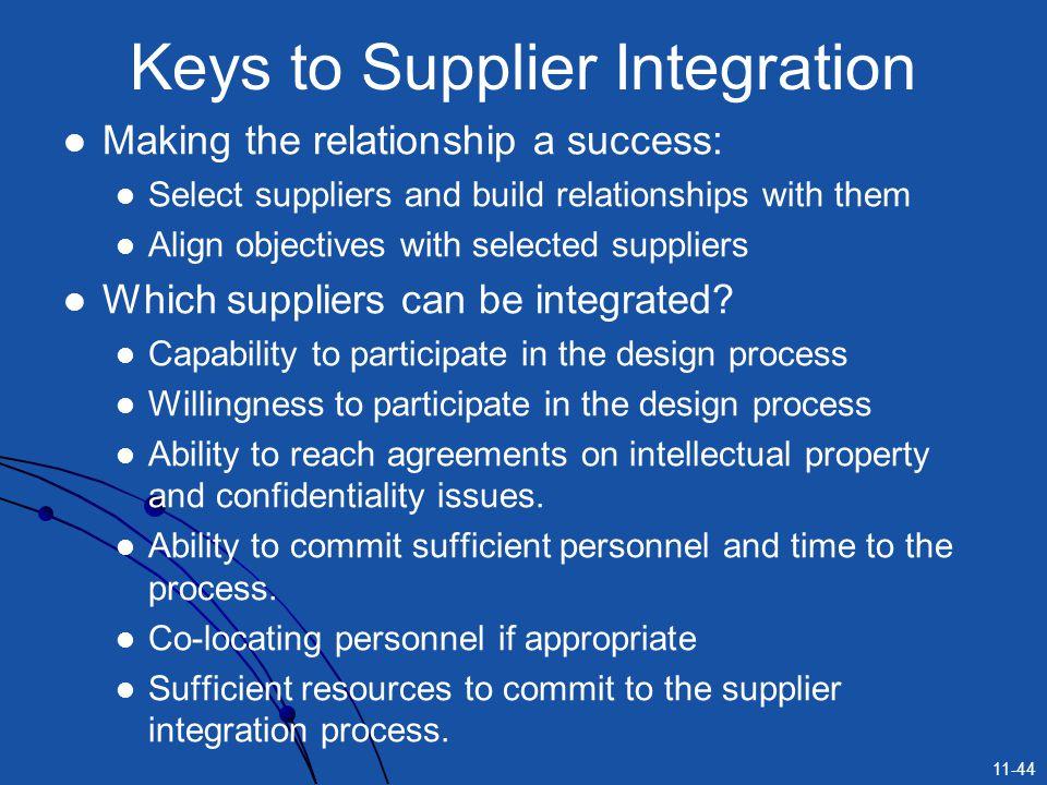 Keys to Supplier Integration