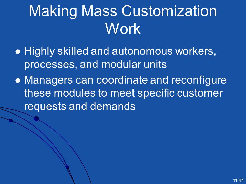 Making Mass Customization Work