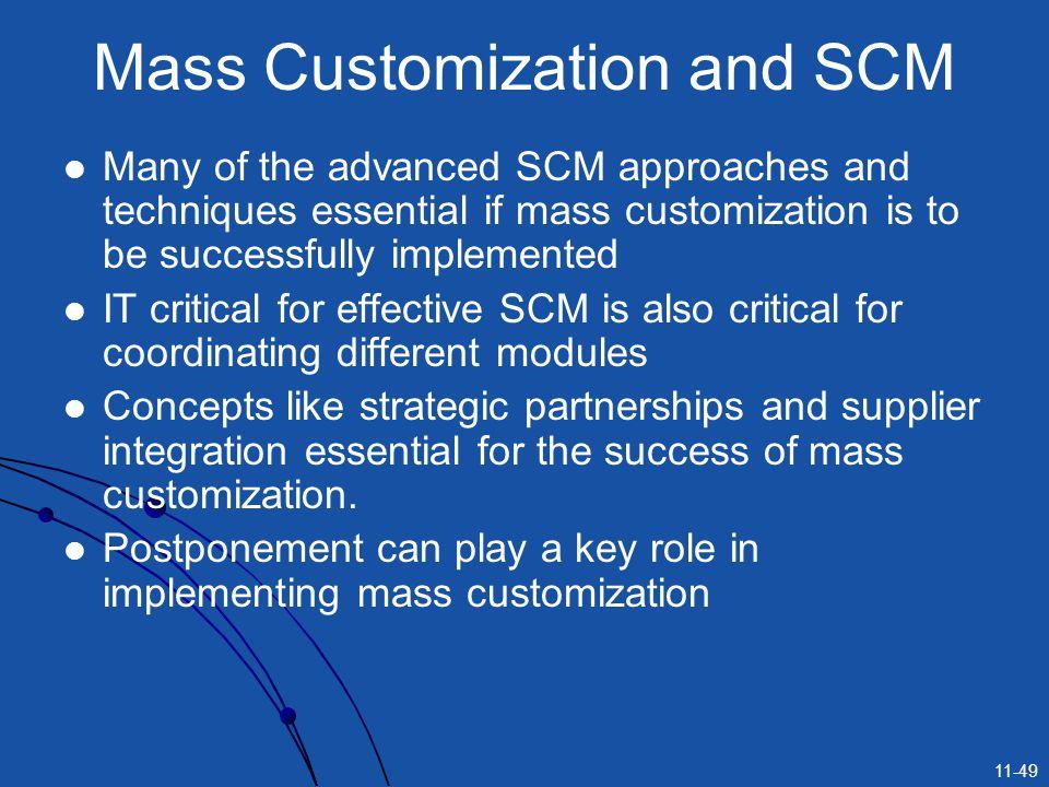 Mass Customization and SCM