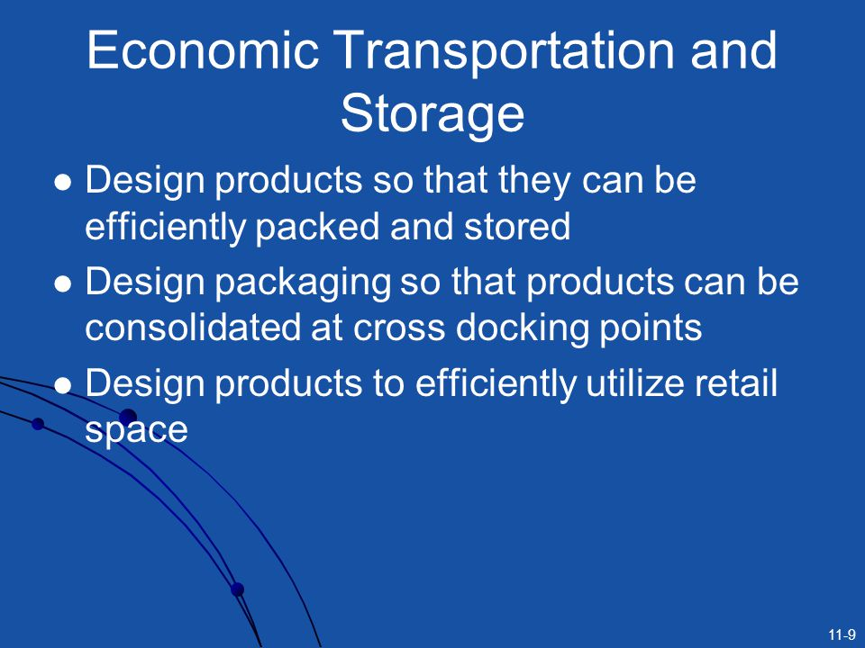 Economic Transportation and Storage