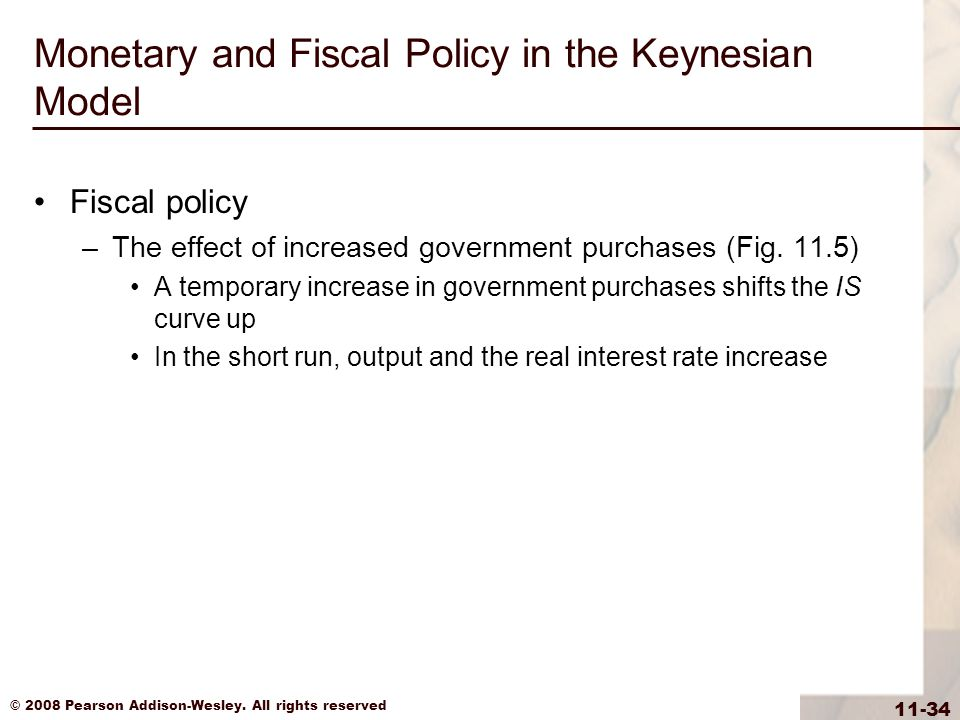 Monetary and Fiscal Policy in the Keynesian Model