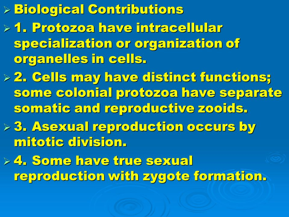 Biological Contributions