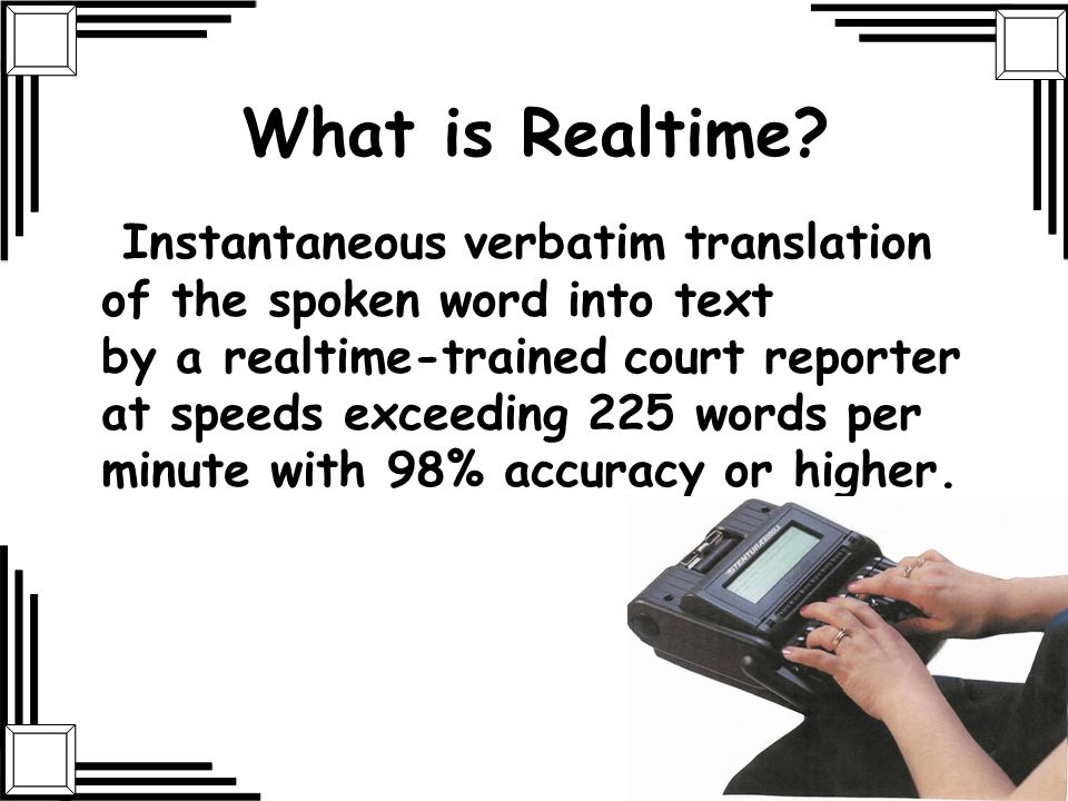 What is Realtime
