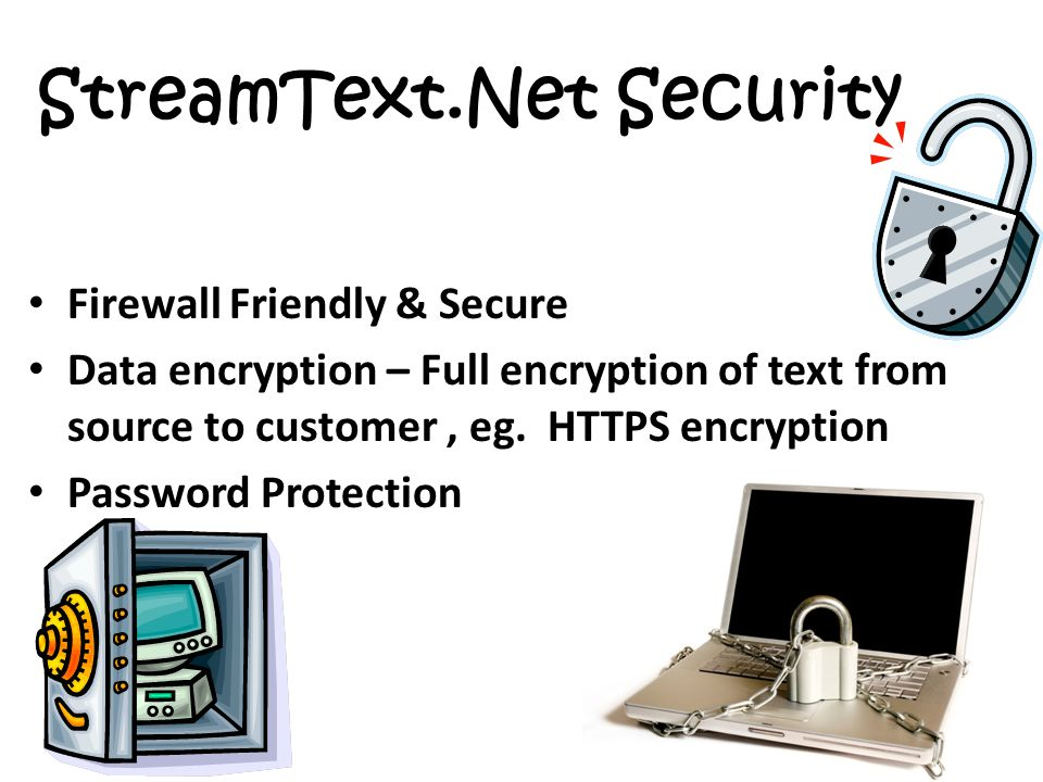StreamText.Net Security