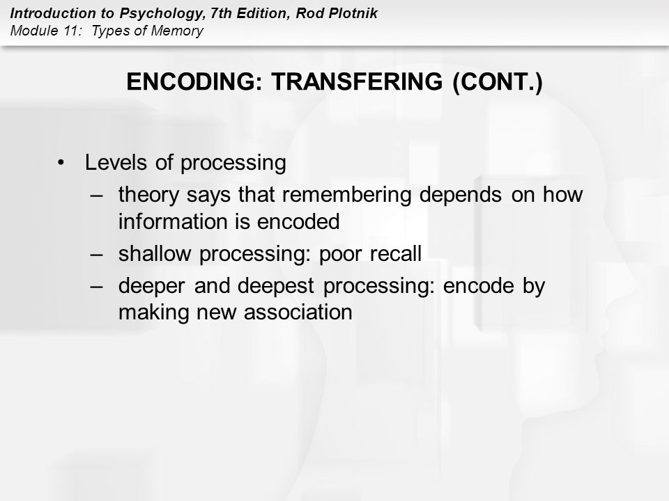 ENCODING: TRANSFERING (CONT.)