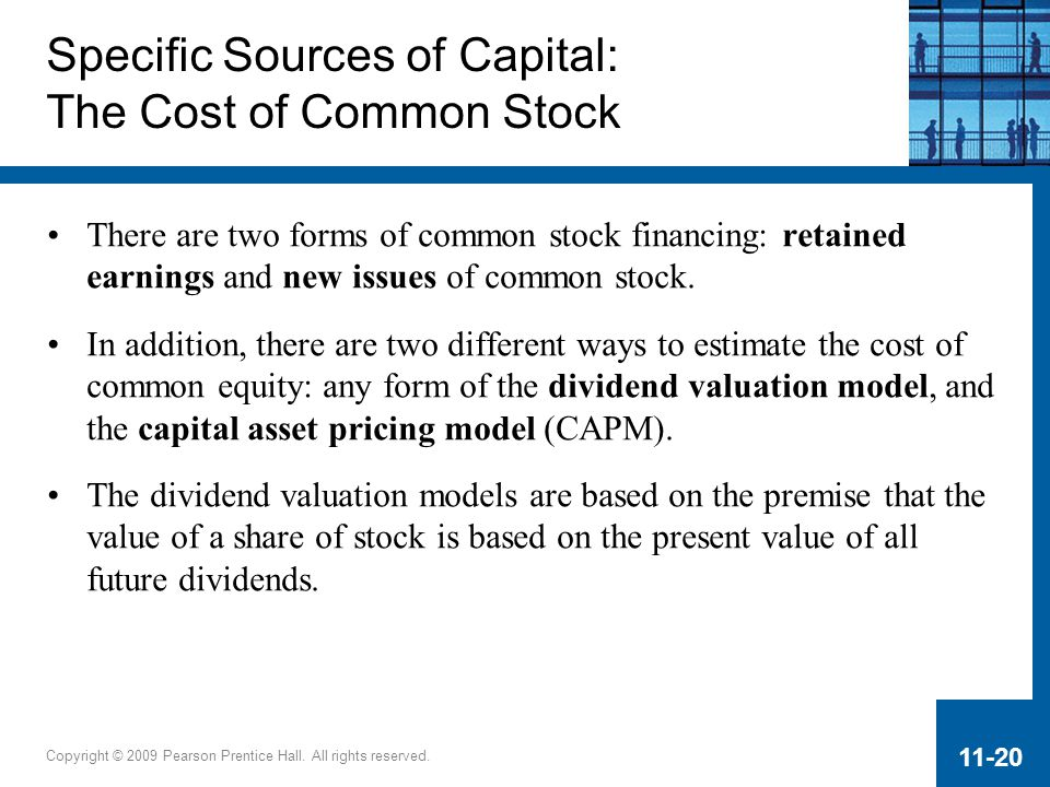 Specific Sources of Capital: The Cost of Common Stock