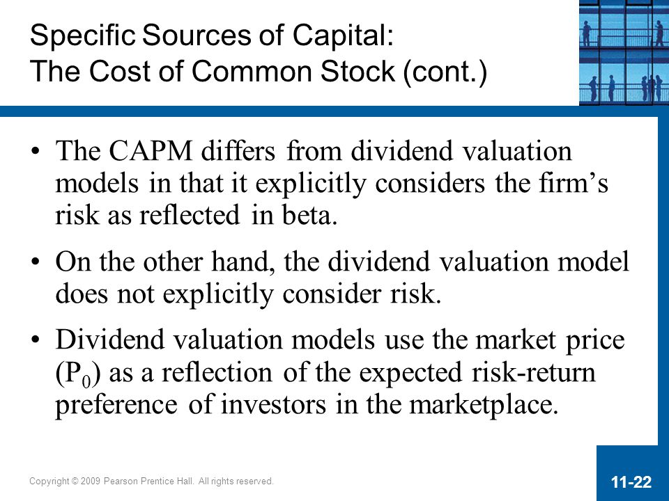 Specific Sources of Capital: The Cost of Common Stock (cont.)