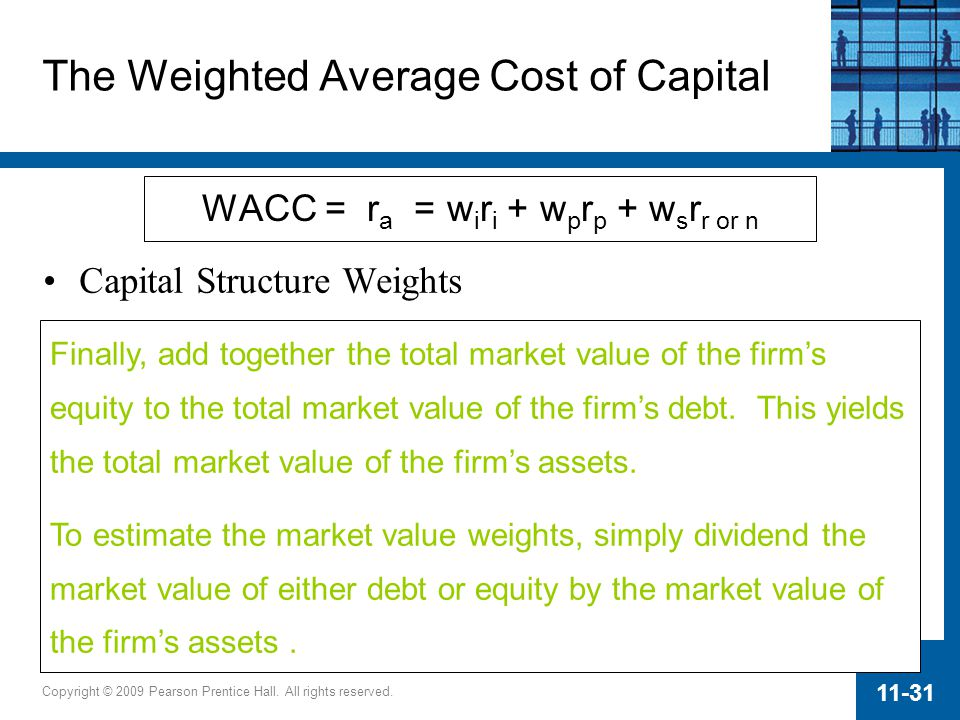 The Weighted Average Cost of Capital