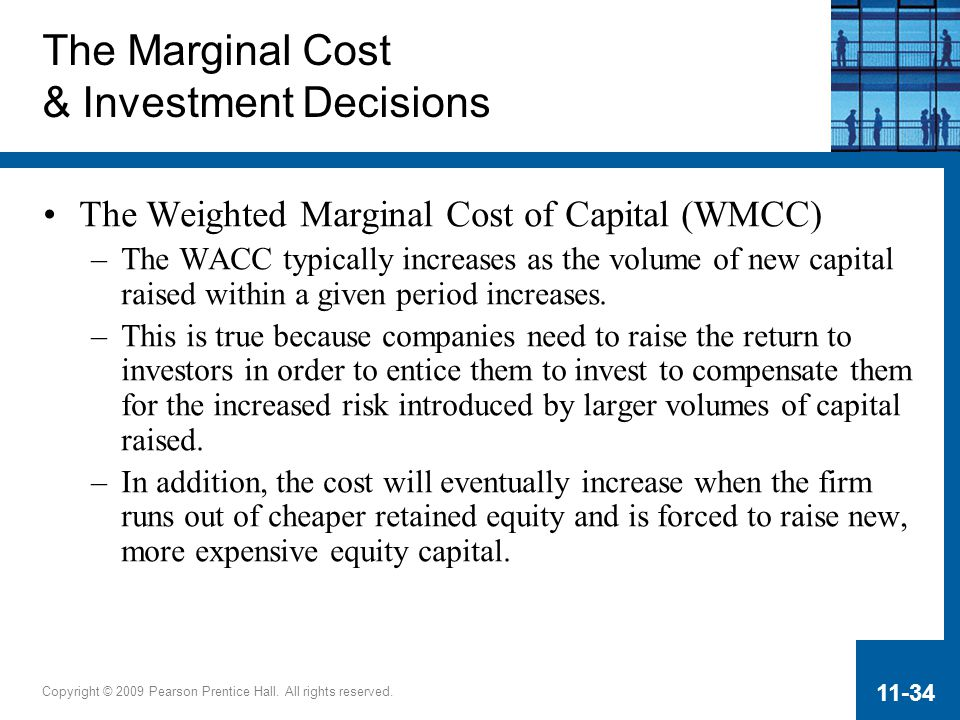 The Marginal Cost & Investment Decisions