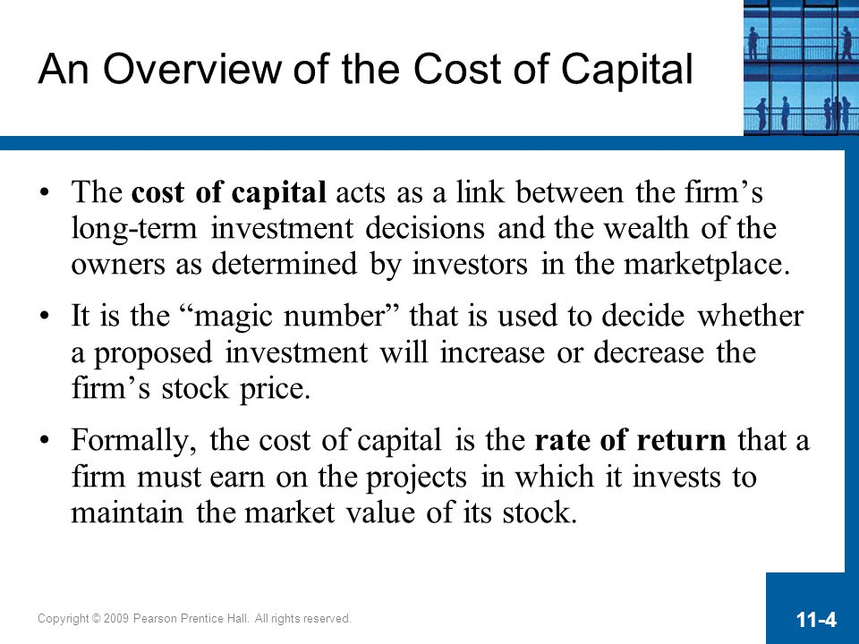 An Overview of the Cost of Capital