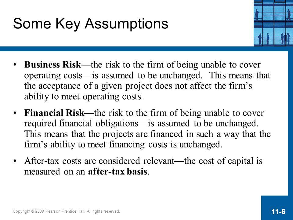 Some Key Assumptions